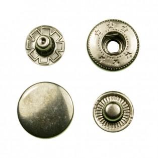 Кнопка установочная металлическая, 15мм цвет никель