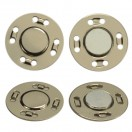 Кнопка металлическая, пришивная,21мм магнит, цвет никель