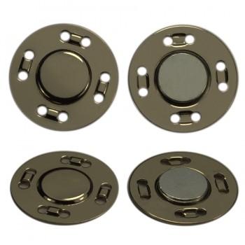 Кнопка металлическая, пришивная,21мм магнит, цвет оксид