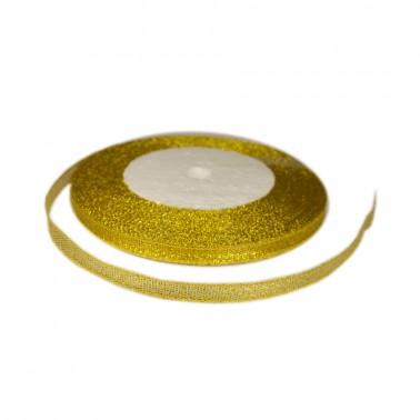 Лента декоративная 0.6см, цвет золото