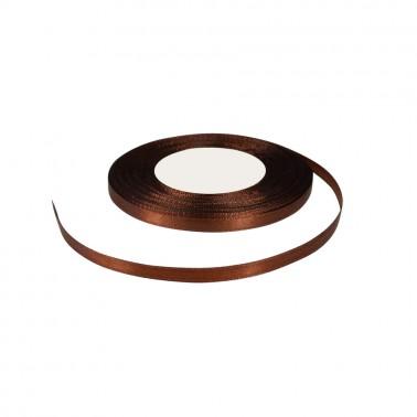 Лента атласная 0.6см, цвет 3136 шоколад