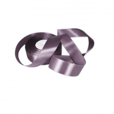 Лента атласная 2.5см, цвет 03-серый-стальной