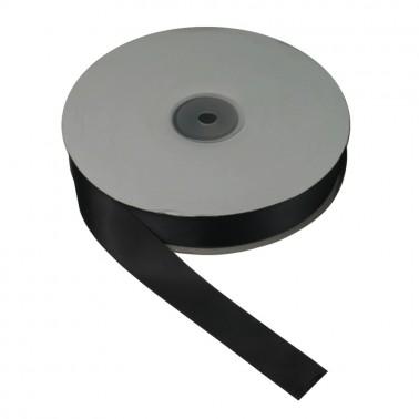 Лента атласная 3см, двухсторонняя,  цвет 06-черный