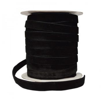 Лента бархатная 1.5см, цвет черный