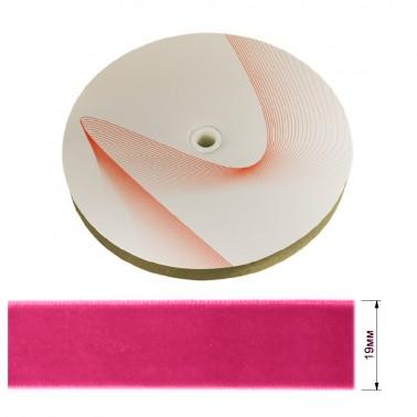 Лента бархатная 1.9см, цвет 010-розовый
