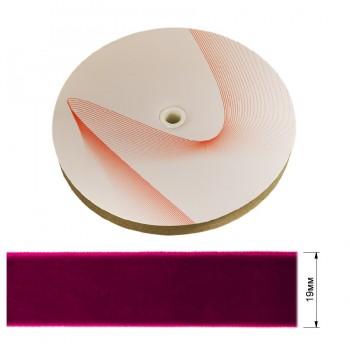 Лента бархатная 1.9см, цвет 027-фуксия
