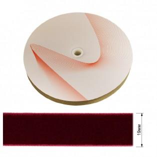 Лента бархатная 1.9см, цвет 029-бордовый