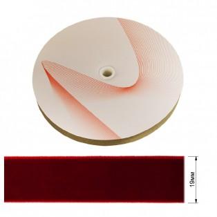 Лента бархатная 1.9см, цвет 036-красный