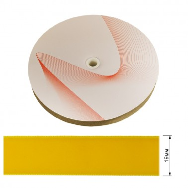 Лента бархатная 1.9см, цвет 054-желтый