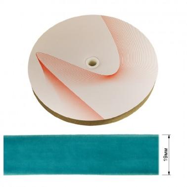 Лента бархатная 1.9см, цвет 067-лазурный