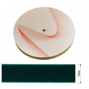 Лента бархатная 1.9см, цвет 086-грязно-голубой