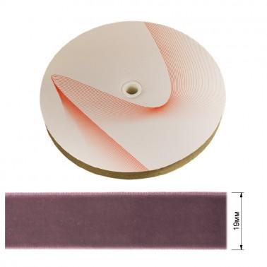 Лента бархатная 1.9см, цвет 122-бледно-фиолетовый