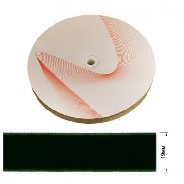 Лента бархатная 1.9см, цвет 178-темно-зеленый