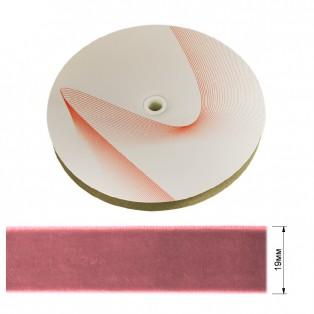 Лента бархатная 1.9см, цвет 187-грязно-розовый
