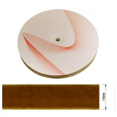 Лента бархатная 1.9см, цвет 196- коричневый