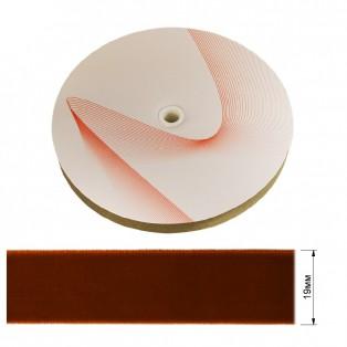 Лента бархатная 1.9см, цвет 222-рыжий