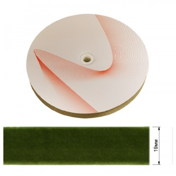Лента бархатная 1.9см, цвет 234-оливковый