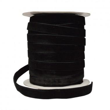 Лента бархатная 2.5см, цвет черный