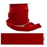 Лента бархатная 2.5см, цвет красный