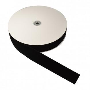 Лента бархатная 4.0см, цвет черный
