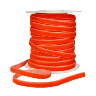 Лента бархатная 0.6см, цвет красный