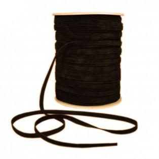 Лента бархатная 0.5см, цвет коричневый