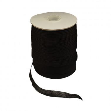 Лента киперная (плечевая) синтетическая 1см, цвет черный