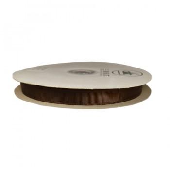 Лента репсовая 1.2см, цвет 161-коричневый