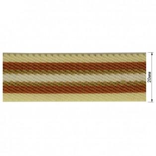 Резинка  декоративная 2см, цвет молочный+коричневый