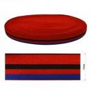 Резинка декоративная 2.5см, цвет красный+черный+синий