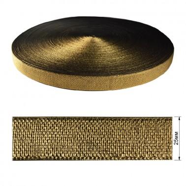 Резинка декоративная с люрексом 2.5см,  цвет золото