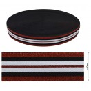 Резинка декоративная с люрексом 4см,  цвет белый+черный+красный