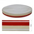 Резинка декоративная 4см, цвет белый+бежевый+красный