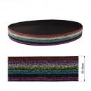 Резинка декоративная с люрексом 4см, цвет разноцветный
