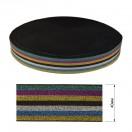 Резинка декоративная с люрексом 4см, цвет 6-разноцветный