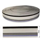 Резинка  декоративная 4,5см, цвет белый+черный+синий