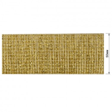 Резинка декоративная с люрексом 5см,  цвет золото