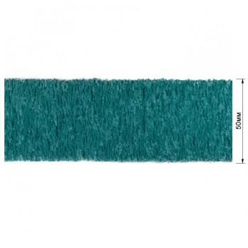 Резинка декоративная 5см,  цвет бирюзовый