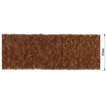 Резинка декоративная 5см,  цвет коричневый