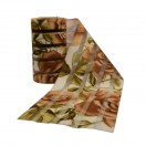 Резинка декоративная 9см, цвет беж+хаки
