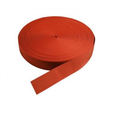 Резинка поясная двусторонняя 5см, цвет зеленый-рыжий