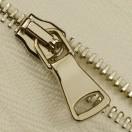 Молния металлическая разъемная 2Т,шлифованная 65см, слайдер G40, зубцы никель, цвет 101-белый