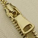 Молния металлическая разъемная 2Т,шлифованная 65см, слайдер G40, зубцы золото, цвет 101-белый