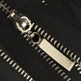 Молния металлическая неразъемная 3Т, шлифованная 16см, слайдер палочка, зубцы никель, цвет 322-чёрный