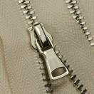 Молния металлическая неразъёмная 3Т, шлифованная 18см, слайдер G40, зубцы никель, цвет 0020-молоко