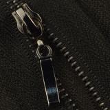 Молния металлическая неразъемная 3Т, 18см, слайдер палочка, зубцы оксид, цвет 322-чёрный