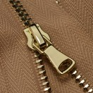 Молния металлическая неразъёмная 3Т, шлифованная 18см, слайдер G40, зубцы золото, цвет D098-бежевый