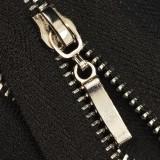 Молния металлическая неразъёмная 3Т, 20см, слайдер палочка, зубцы никель, цвет 322-чёрный