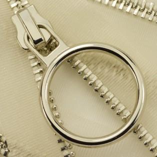 Молния металлическая неразъёмная 3Т, 30см, шлифованная, слайдер 5180, зубцы никель, цвет прозрачный
