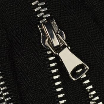 Молния металлическая разъёмная 3Т, 35см, шлифованная, слайдер G40, зубцы никель, цвет 322-чёрный